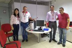 Banco do Nordeste faz doação de 5 computadores para formação de um TELECENTRO na zona rural de Umbuzeiro, solicitado pelo Departamento de Cultura.