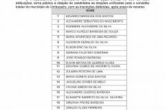 Comissão especial eleitoral divulga edital com lista preliminar dos candidatos ao conselho tutela