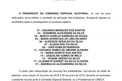 LISTA DOS CANDIDATOS aprovados e aptos a disputar uma das 5 vagas na eleição 2019 do Conselho Tutelar de Umbuzeiro.