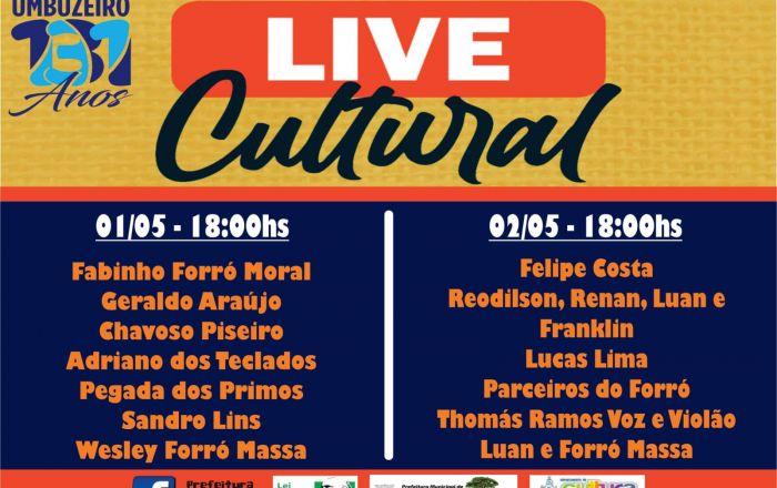 UMBUZEIRO 131 ANOS!! PROGRAMAÇÃO DA LIVE CULTURAL
